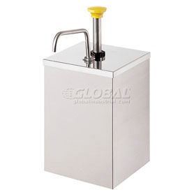 Server 67580,  Stainless Steel Pump w/Shroud, Holds #10 Can (Not Included), Thick Condiments