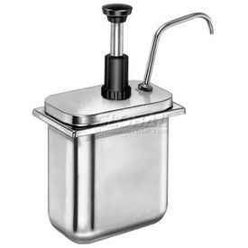 Server 83300,  Stainless Steel Pump, For Shallow Fountain Jar, Thick Condiments