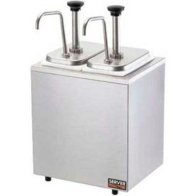 Server 79890, Insulated Bar, 2 Stainless Steel Pumps-2 Deep Fountain Jars, Thick/Thicker Condiments