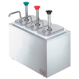 Server 87390,  Insulated Bar w/ (3) Stainless Steel Pumps & (3) Deep Fountain Jars