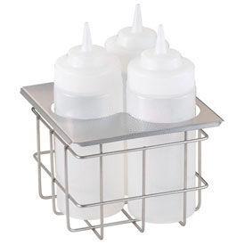 Server Cold Table Triple Bottle Holder, Holds (3) 16 Oz. Squeeze Bottles