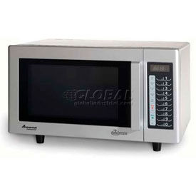 Amana RMS10TS - Microwave, Commercial, 0.8 Cu. Ft., 1000 Watt, Touch Controls, S/S Interior/Exterior