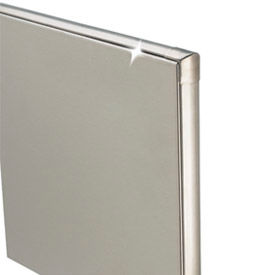 Bathroom Partitions | Stainless Steel | Stainless Steel Bathroom Partition Panel - 54-3/4 W x 58 H | 260955 - GlobalIndustrial.com