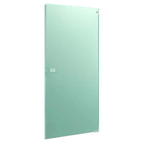 "Stainless Steel Partition Door - 25-5/8"" W x 58"" H Inward Swing"