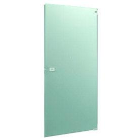 "Stainless Steel Partition Door - ADA 35-3/8"" W x 58"" H Outward Swing"