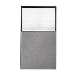 """66"""" H x 36"""" W Partial Plexiglass Office Partition Panel"""