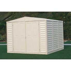 """DuraMate Vinyl Outdoor Storage Shed 00384, 7'10""""W X 7'10""""D X 6'1""""H, Includes Foundation"""
