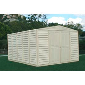 "WoodBridge Vinyl Outdoor Storage Shed 00584, 10'5""W X 13'D X 7'1""H, Includes Foundation"