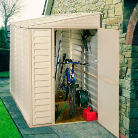 """SideMate Vinyl Outdoor Storage Shed 06625, 3'11""""W X 7'10""""D X 6'1""""H, Includes Foundation"""