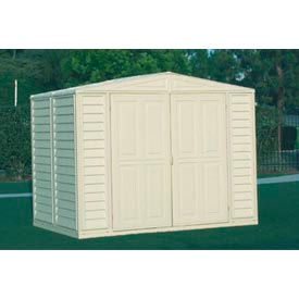 "DuraMate Vinyl Outdoor Storage Shed 00184, 7'10""W X 5'3""D X 6'1""H, Includes Foundation"