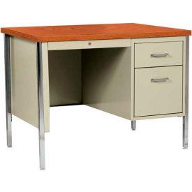 Desks | Steel Desks | Sandusky Steel Desk with Center ...