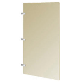 "Steel Urinal Screen with Wall Mounting Brackets - 24""W (Almond)"