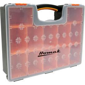 """Homak HA01112425 Plastic Organizer With 12 Removable Bins 16-1/2""""L x 13""""W x 4-1/4""""H - Pkg Qty 10"""