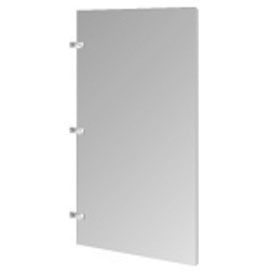 "Steel Urinal Screen with Wall Mounting Brackets - 24""W (Gray)"