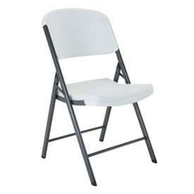 Lifetime® Commercial Contoured Folding Chair, White Granite, Pallet of 32