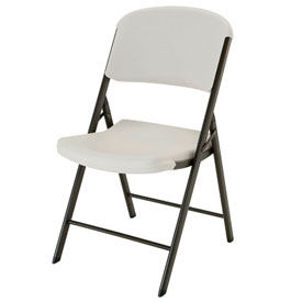 Lifetime® Commercial Contoured Folding Chair, Almond, Pallet of 32