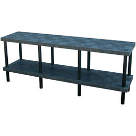 """Plastic Work Bench with Solid Top - 96""""W x 24""""D x 36""""H"""