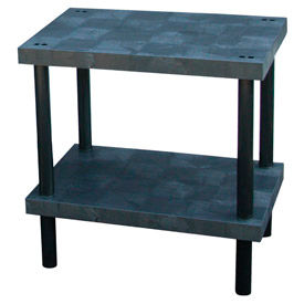 """Plastic Work Bench with Solid Top - 36""""W x 24""""D x 36""""H"""