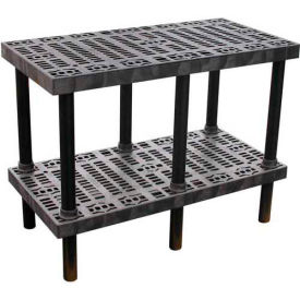 """Plastic Work Bench with Grid Top - 48""""W x 24""""D x 36""""H"""