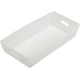 Corrugated Plastic Mail Tray 24-1/2 X 12 X 4-1/2 Natural