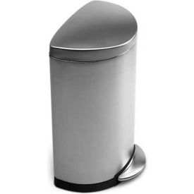 simplehuman® Semi Round Step Can - 10-1/2 Gallon Brushed SS