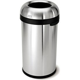 simplehuman® Bullet Open Top Can - 16 Gallon Brushed SS