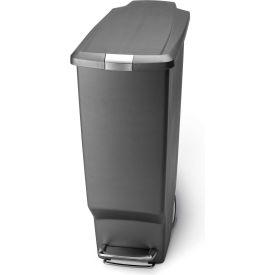 simplehuman® Slim Plastic Step Can - 10-1/2 Gallon Gray
