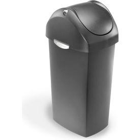 simplehuman® Plastic Swing Lid Can - 16 Gallon Gray