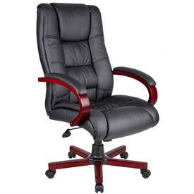 High Back Executive Wood Finished Chair, Mahogany
