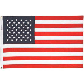 3 x 5' Nyl-Glo US Flag with Embroidered Stars & Lock Stitching