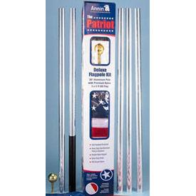 "Patriot"" 20' Flag Pole & 3x5 Nylon Us Flag Set - Pkg Qty 3"