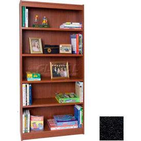 "72"" Laminate Bookcase, Charcoal Gray"