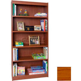 "84"" Laminate Bookcase, Medium Oak"
