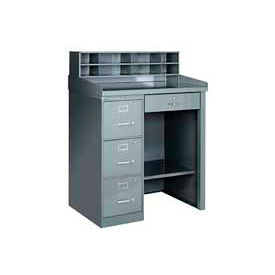 All Welded Shop Desk With Filing Storage