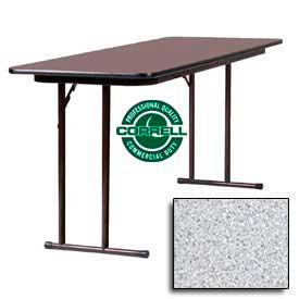 tables training tables correll folding seminar table laminate 24 x 72 gray granite. Black Bedroom Furniture Sets. Home Design Ideas