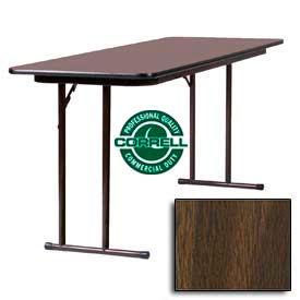 "Training-Seminar Table, Off-Set Folding Leg, 24""x 96"", Walnut Top"