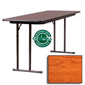 """Correll Folding Seminar Table - Laminate - 24""""x 96"""" - Medium Oak"""