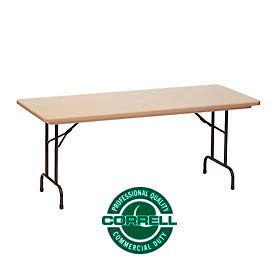 "Blow-Molded Commercial Duty Folding Table 24"" x 48"", Mocha Granite"