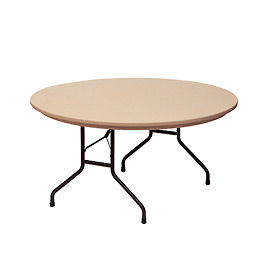 """Blow-Molded Commercial Duty Folding Table 60"""" Round, Mocha Granite"""