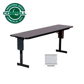 "Training - Panel Leg, Folding Table. 18"" x 60"", Gray Granite Top"