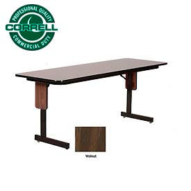 "Correll Folding Seminar Table - 24"" x 60"" - Walnut"