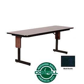 "Correll Folding Seminar Table - 24"" x 72"" - Black Granite"