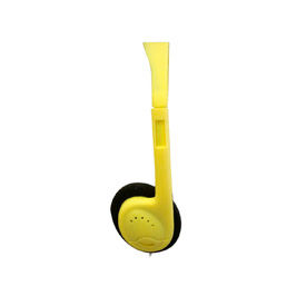 "Stereo Headphones With 1/8"" Plug & Foam Earpads, Yellow - Min Qty 2"