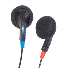Disposable Earbuds With Earpads, Black