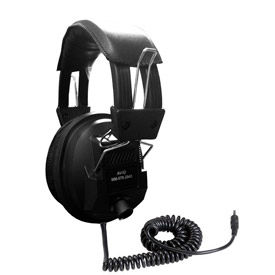 Stereo/Mono Headphones with Plug Adaptor & Volume Control Black