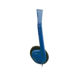 """Stereo Headphones With 1/8"""" Plug & Foam Earpads, Blue - Min Qty 2"""