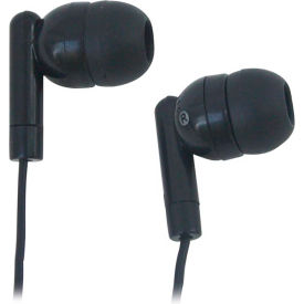 Disposable Earbuds With Silicone Tips, Black - Min Qty 2