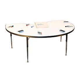 "Whiteboard Activity Table 48"" x 72"" Kidney, Standard Adjustable Height"
