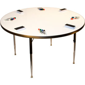"Whiteboard Activity Table 36"" Diameter Circle, Juvenile Adjustable Height"
