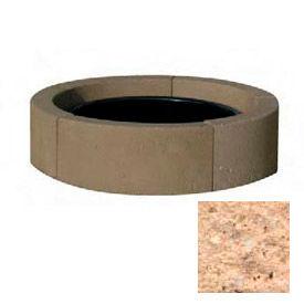 """44"""" Dia. Concrete Fire Ring, Weather Stone Cream"""